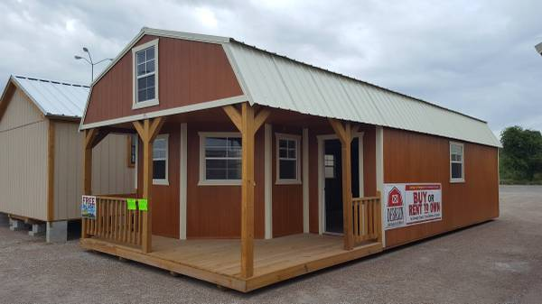 The Beeville News 250959 16x40 Deluxe Lofted Barn Cabin